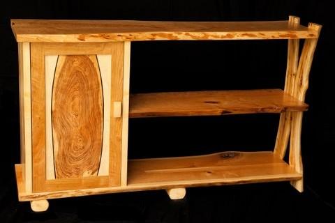 Cherry Cabinet & Shelf